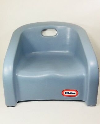 Vintage Little Tikes Toddler Booster Seat Child Size Chair Blue plastic FreeShip