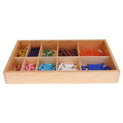 Montessori Early Learning Educational Toy - 1-10 Beads Bar Box Math Counting