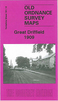 Old Ordnance Survey Map Great Driffield 1909 Middle Street Market Place Station