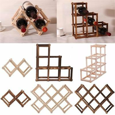 Wooden Red Wine Rack 3/6/10 Bottle Mount Holder Exhibition Organizer Modern