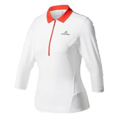Adidas Womens Stella McCartney Barricade 3/4 Sleeve 1/2 Zip Tennis Top
