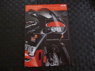 Aprilia Rs 125 Racing Replica Brochure/leaflet *rare* *please Read/as Pictures*