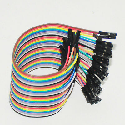 40pcs 10cm Dupont Jumper Wire Ribbon GPIO Cable Connector For Arduino Breadboard