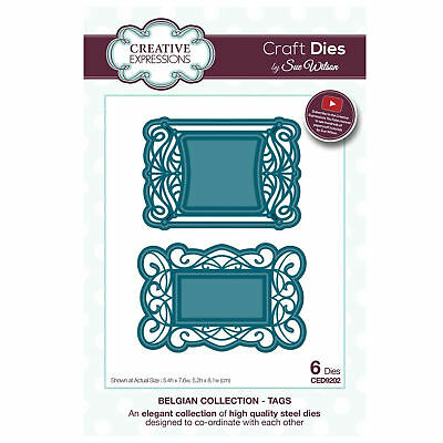 Craft Dies ced9202 Sue Wilson Belgische Kollektion - Tags