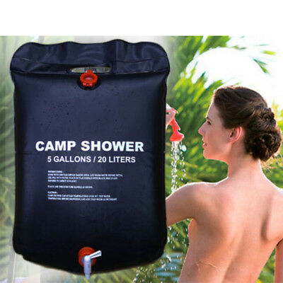 20L Solar Heated Shower Camping Water Bathing Bag Outdoor Travel Hiking Portable