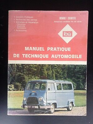 Manuel pratique technique automobile Renault Estafette 1985 BON ETAT