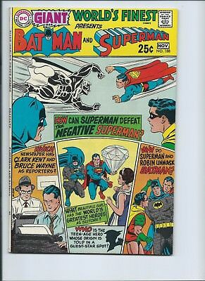World's Finest 188 - F+ 6.5 - Superman - Batman - 80 Page Giant - G-64 (1969)