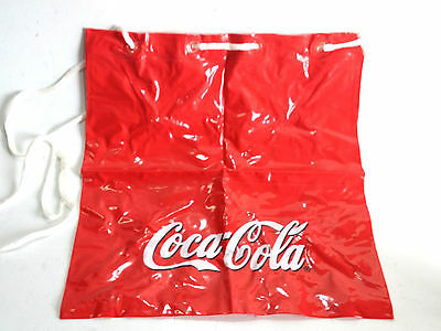 Coca Cola Bag Plastic Tote Soft Beach Bag Collectible Advertising Promo 36x34cm
