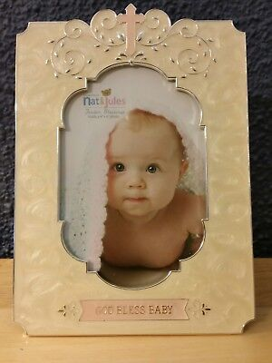 God Bless Baby Girl  4×6 picture frame  Nat & Jules Tender Blessings Collection
