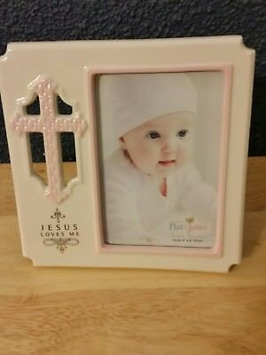 Jesus Loves Me 4 × 6 picture frame,  Nat & Jules , Demdaco,  Celebrate Me...