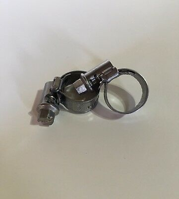 "Stainless Steel Hose Clip For 3/8"" Clear Hose To Fit Carpet Cleaning Pumps x 2"