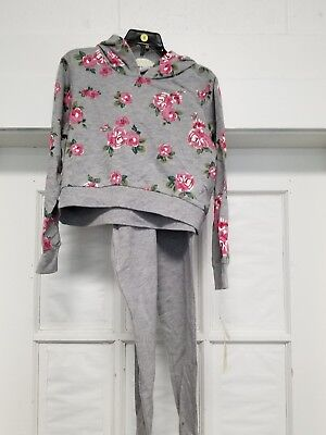 New Guess Girls Active 2 Piece Set Gray Heather Size 8~~ FreE ShiPPinG ~~