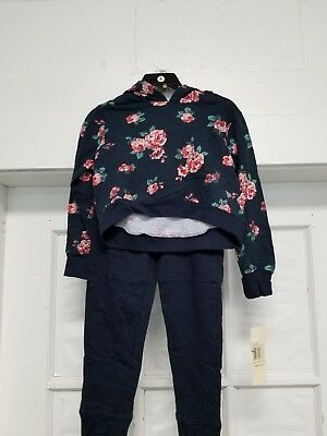 New Guess Girls Active 2 Piece Set NAVY BLUE FLORAL Size 6~~ FreE ShiPPinG ~~