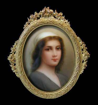 Fine Signed Wagner Hand Painted   Porcelain Plaque