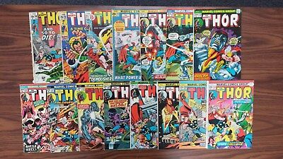 Thor #(190-193, 218-220, 222-224, 230-234) 1971-1975 (LOT OF 15 ISSUES)
