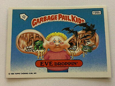 1987 UK Garbage Pail Kids 5th Series 199b EVE Droppin' : Head Puzzle Piece