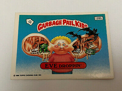 1987 UK Garbage Pail Kids 5th Series 199b EVE Droppin' : Head with Arm Puzzle