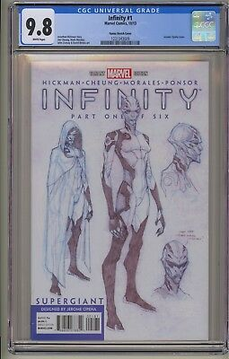 Infinity 1 2 3 4 5 6 CGC 9.8 Sketch Variant War Black Order Avengers Thanos