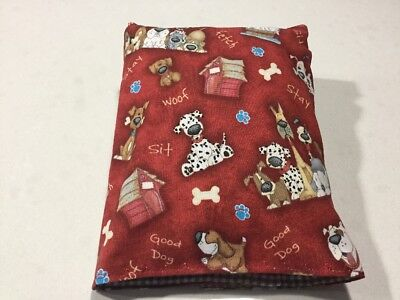 Arm Head Rest Baby Feeding Pillow, Red Doggy Pattern, Handmade, New