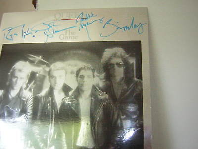 Queen Signed Lp The Game Mylar Cover Freddie Mercury Deacon