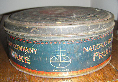 Vintage National Biscuit Company Nabisco Fruit Cake Tin