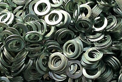 "2,500 Pcs Zinc Plated Steel Flat Washers Size 5/8"" OD, 3/8 ID, .058 thicknesses"
