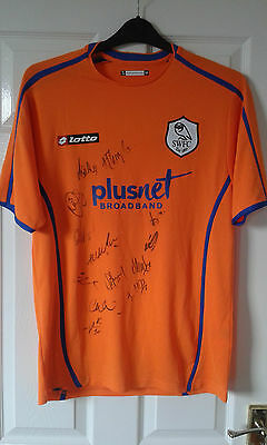 Mens Football Shirt - Sheffield Wednesday - AWAY 2007-09 14 TEAM SIGNED - Size M