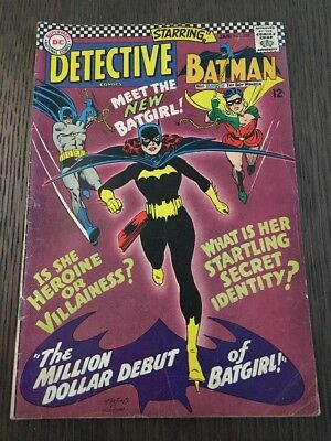 Detective Comics #359 Vol 1 Lower Mid Grade 1st Appearance of Batgirl 1967