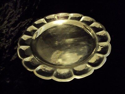 Sterling Silver Sanborns Mexico Scalloped Tray selling for scrap .925 121 grams