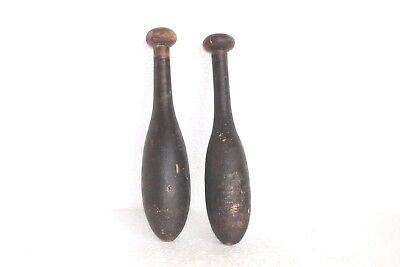 2 Pc Vintage Wooden Hand Carved Indian Washing Cloth Bat/Wand Collectible W56