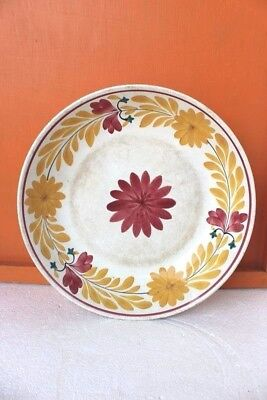 Vintage Old Antique Enamel Dining Plate Kitchenware Home Decor Collectible C-38