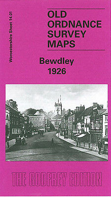 Old Ordnance Survey Map Bewdley Bark Hill Sandbourne House Wribbenhall 1926