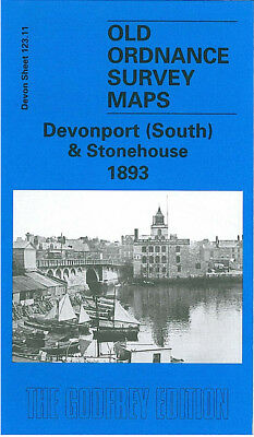 Old Ordnance Survey Map Devonport South Stonehouse 1893 Hobart Street Cremyll