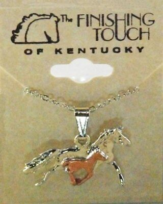 Finishing Touch 2-Tone Mare And Foal Necklace - Silver/copper