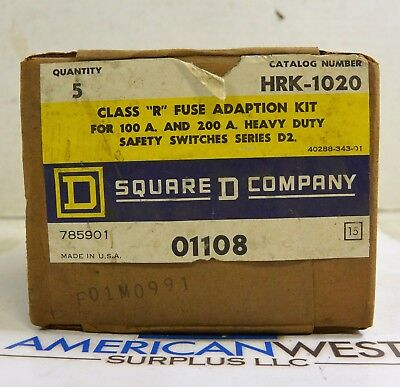 HRK-1020 SQUARE D Class R FUSE Kit for 100A + 200A switches HRK1020 PACK of 5