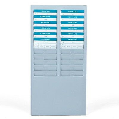 Time Card Rack 24 Pocket Slots Wall Mounted Durable Holder Compatible with At...
