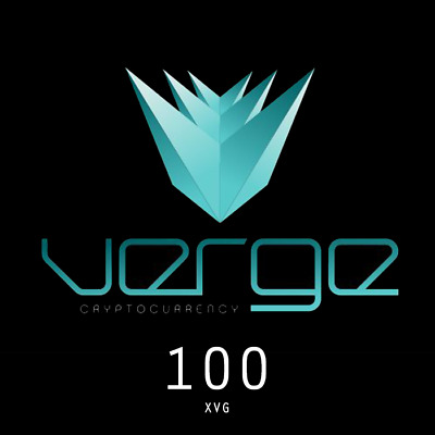 100 XVG Verge Cryptocurrency Direct To Your Wallet.