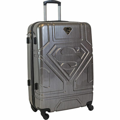 """28"""" Superman Luxury Deluxe Gray Suitcase Luggage baggage Travel Bag Trolley"""