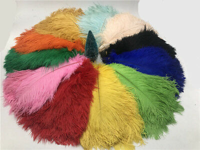 100pcs beautiful ostrich feathers 6-16inches/15-40cm 15 colors