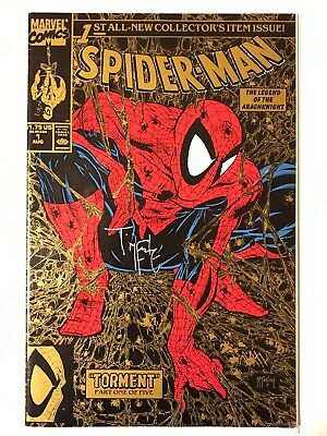 Spider-man #1 Gold Signed By Todd Macfarland