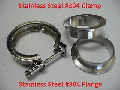 """3.5/"""" ID=89MM Stainless Steel T 304 Turbo Exhaust Down Pipe V-Band Clamp 3-1//2"""""""