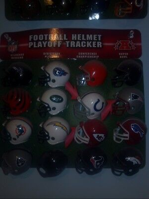NFL Football Mini Helmets/Standings Playoff Tracker Displays with (32 Helmets)
