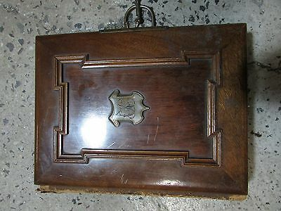 Antique Victorian Photos In Old Timber Panel Cover  Photo Album Photograph Pages