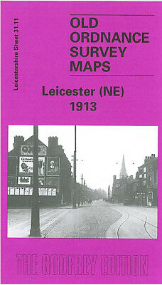 Old Ordnance Survey Map Leicester Ne 1913 Southampton Street Green Lane