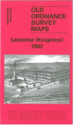 Old Ordnance Survey Map Leicester Knighton 1902 Stoneygate Road Clarendon Park
