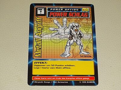 Digimon Karte Power Schlag Metall Angriff ST-53 1st Edition