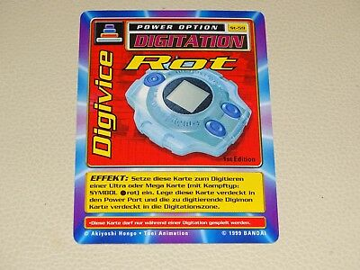 Digimon Karte Digitation Digivice Rot ST-59 1st Edition