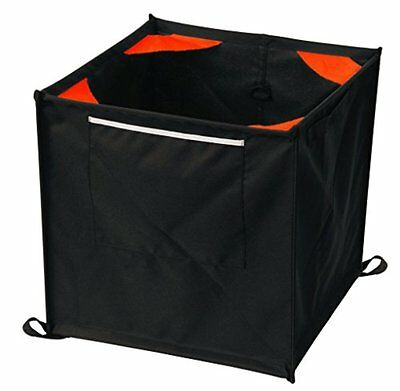 Weaver Leather Throw Line Storage Cube, Black/Orange