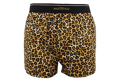Men's Super soft COTTON boxer shorts sexy LEOPARD PRINT Made in France by PJW