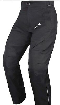Men Black Textile Waterproof Motorbike Motorcycle Trousers Pants CE Armoured